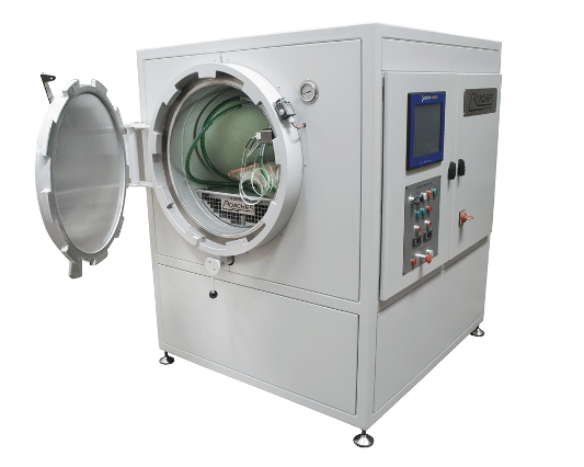 autoclave door open